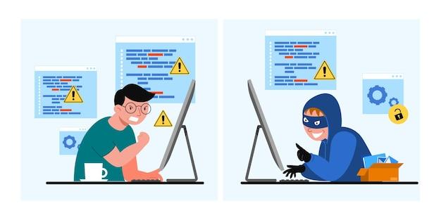 Seguridad de datos globales o datos personales, concepto de seguridad de datos cibernéticos en línea, seguridad de internet o idea de privacidad y protección de la información, ilustración isométrica plana aislada