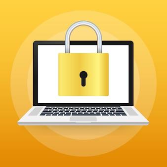 Seguridad informática, privacidad, protección con contraseña.