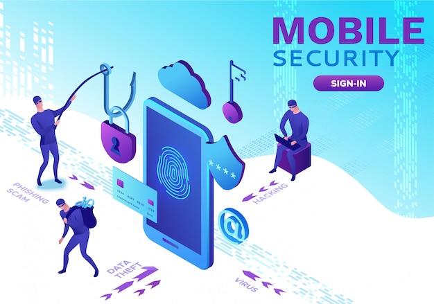 Seguridad móvil, protección de datos.