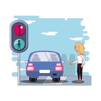 Seguridad de los peatones en la carretera