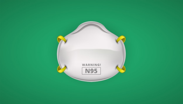 Seguridad de protección de mascarilla n95 para coronavirus