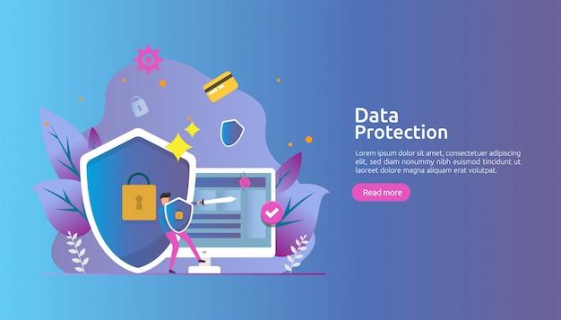 Seguridad de la red de seguridad y protección de datos confidenciales con carácter personal.