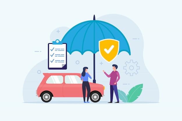 Seguro de automóvil con protección paraguas