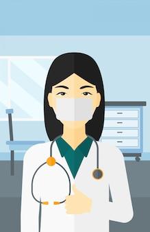 Seguro médico en la máscara.