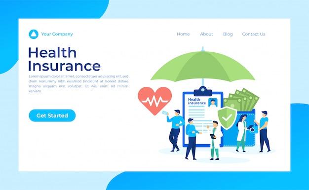 Seguro de salud página de destino