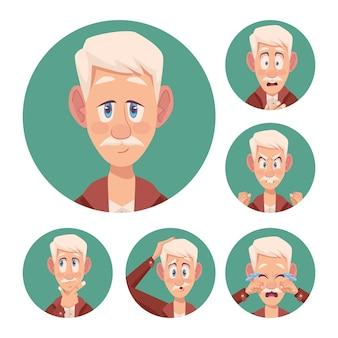 Seis abuelos con alzheimers