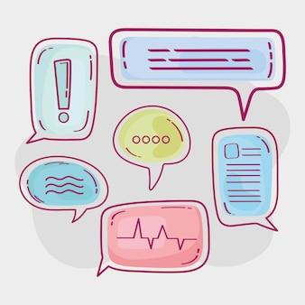 Seis burbujas de discurso