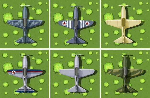 Seis diseños de avión militar