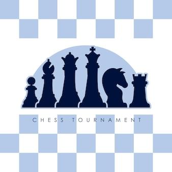 Seis figuras de ajedrez