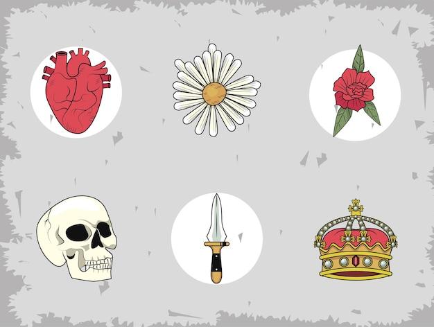 Seis iconos de amor salvaje
