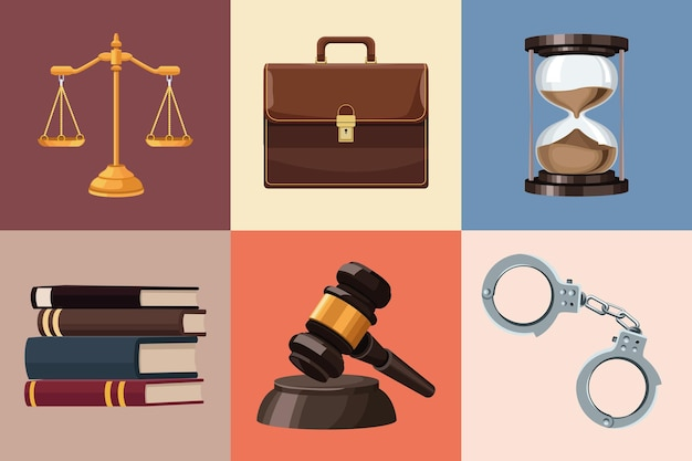 Seis iconos de justicia de ley