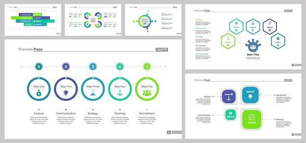 Seis plantillas de diapositivas de trabajo en equipo