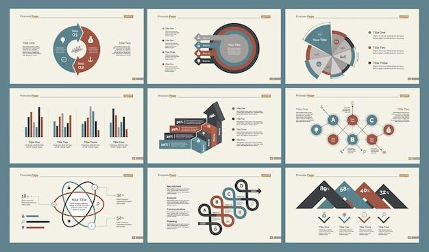 Seis plantillas de diapositivas