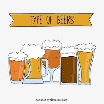 Selección de cervezas refrescantes