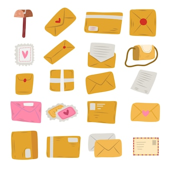 Selección de estilo de dibujo de sobre de correo