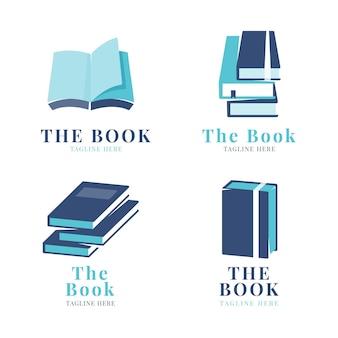 Selección de logo de libro plano