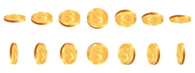 Selección de monedas de oro