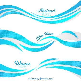 Selección de olas con estilo abstracto