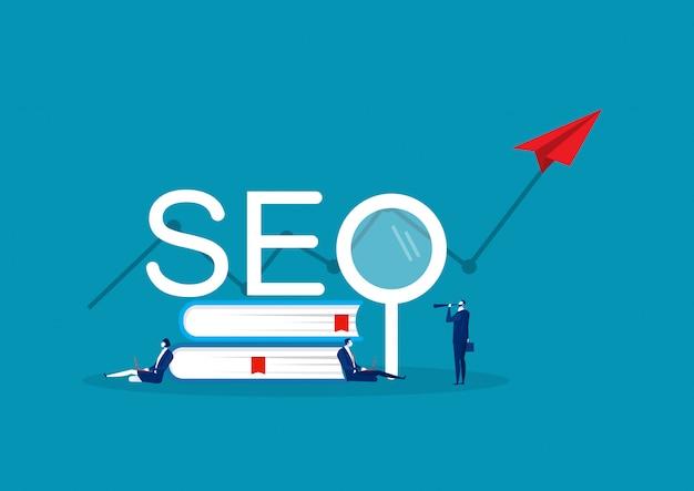 La selección de palabras clave del negocio del equipo afecta el tráfico. seo armas de marketing en línea en la palabra seo.