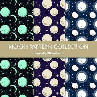 Selección plana de patrones de lunas