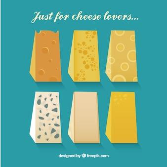 Selección de sabrosos quesos gourmet
