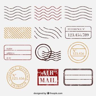 Selección de sellos postales