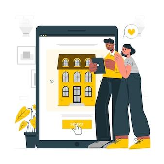 Seleccione la ilustración del concepto de casa