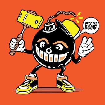 Selfie bomb character design