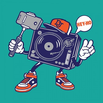 Selfie disc jockey