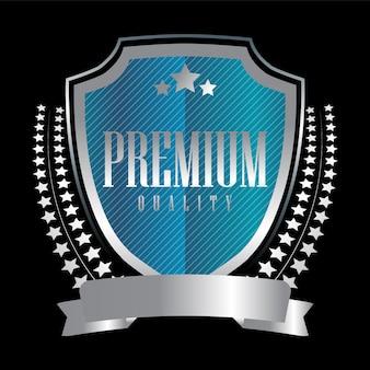Selle insignias y etiquetas plateadas de calidad premium premium