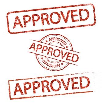 Sello aprobado y rechazado, vector de estilo vintage signo