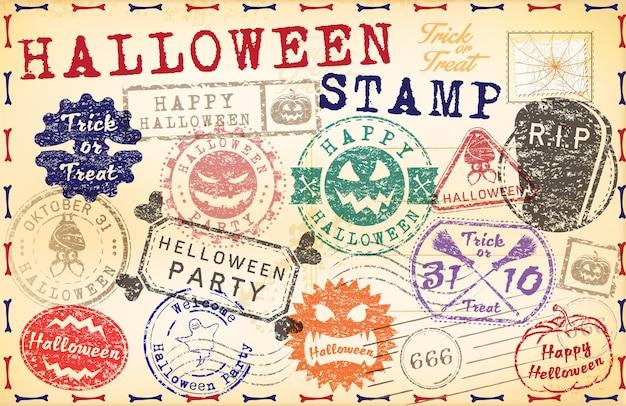 Sello de correos de halloween
