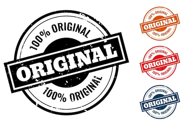 Sello de goma de calidad original o juego de etiquetas