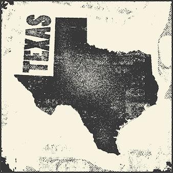 Sello de mapa de texas.
