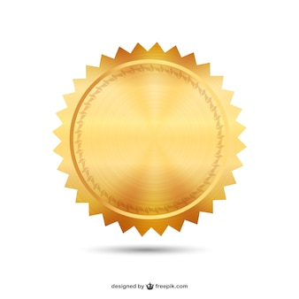 Sello de oro vector
