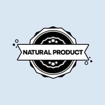 Sello de producto natural. vector. icono de insignia de producto natural. logotipo de insignia certificado. plantilla de sello. etiqueta, etiqueta engomada, iconos. producto natural libre de transgénicos.