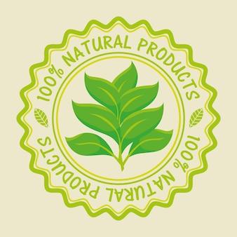 Sello de producto orgánico garantizado