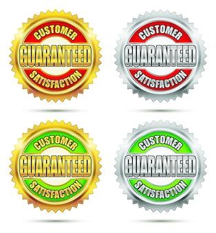 Sello de satisfacción del cliente garantizado