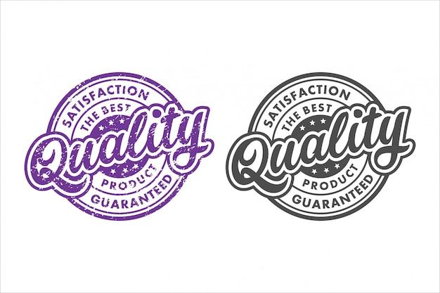 El sello de satisfacción del producto de mejor calidad garantizado