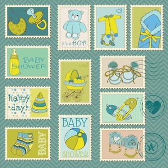 Sellos postales de bebé niño