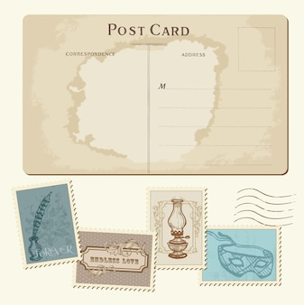 Sellos y postales vintage