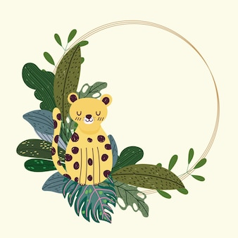 Selva de leopardo lindo