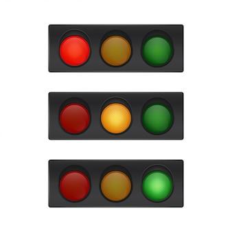 Semáforos aislados.
