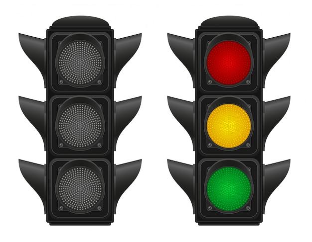 Semáforos para coches ilustración vectorial