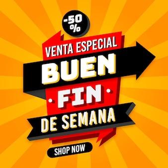 Semana de rebajas baratas mexicanas especiales