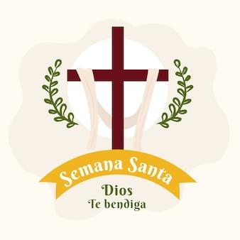 Semana santa estilo dibujado a mano