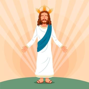 Semana santa jesus ilustración