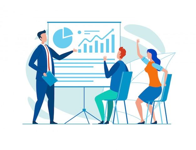 Seminario de conducción de coaching empresarial para el público