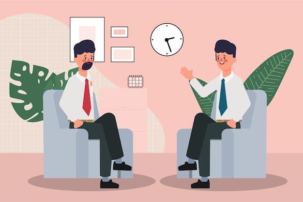 Seminario de gente de negocios con reunión de negocios de trabajo en equipo profesional y de oficina
