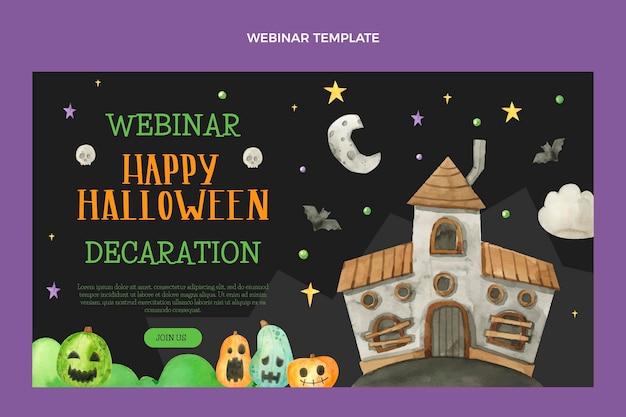 Seminario web de halloween en acuarela